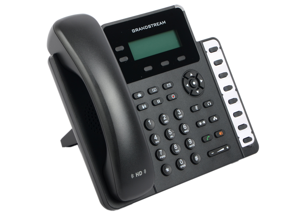 Телефон IP Grandstream GXP-1628 2 линии 2 SIP-аккаунта 2x10/100/1000Mbps LCD PoE BLF