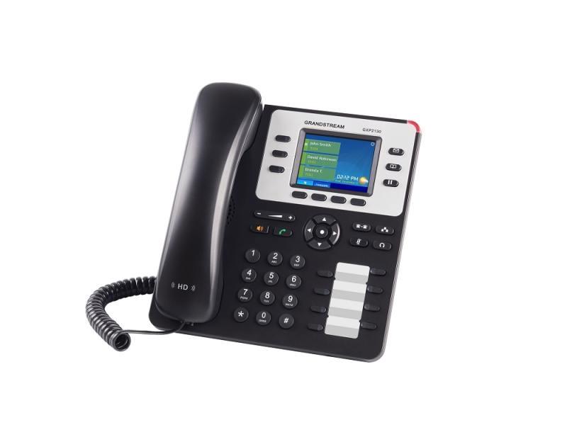 Телефон IP Grandstream GXP-2130 3 линии 3 SIP-аккаунта 2x10/100/1000Mbps LCD