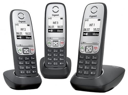 Телефон Gigaset А415 TRIO (DECT, три трубки)