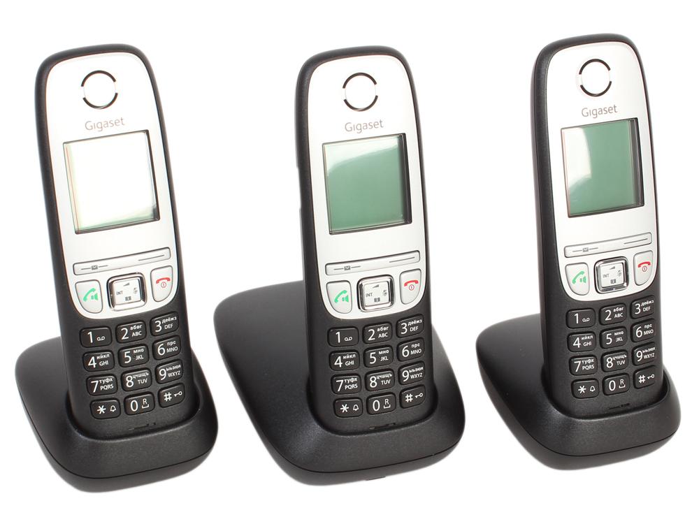 Телефон Gigaset А415 TRIO (DECT, три трубки) gigaset a415 trio black