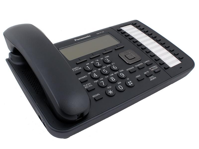 Телефон IP Panasonic KX-UT136RU-B SIP Цифр. IP-телефон, VoIP, Ethernet, UpTo 2 Ether. Line, Память 500, 24 программ. кнопки, Звук HD