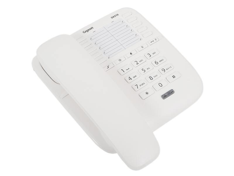 Телефон Gigaset DA510 белый телефон supra stl 111 белый