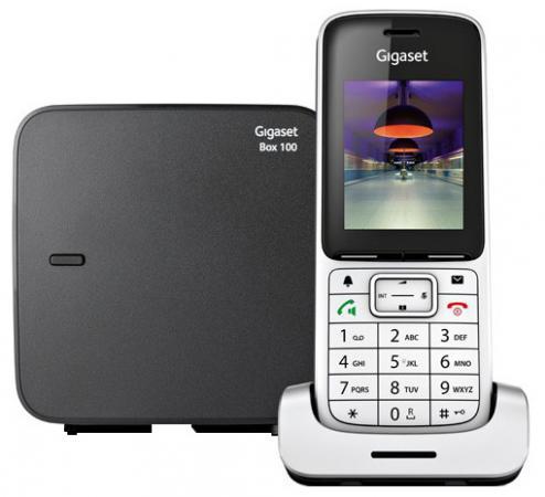 Радиотелефон DECT Gigaset SL450 SYS серебристый/черный радиотелефон siemens gigaset a220a серый s30852 h2431 s303