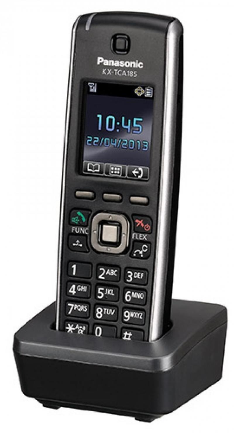 Радиотелефон DECT Panasonic KX-TCA185RU черный блок расширения panasonic kx ns520ru