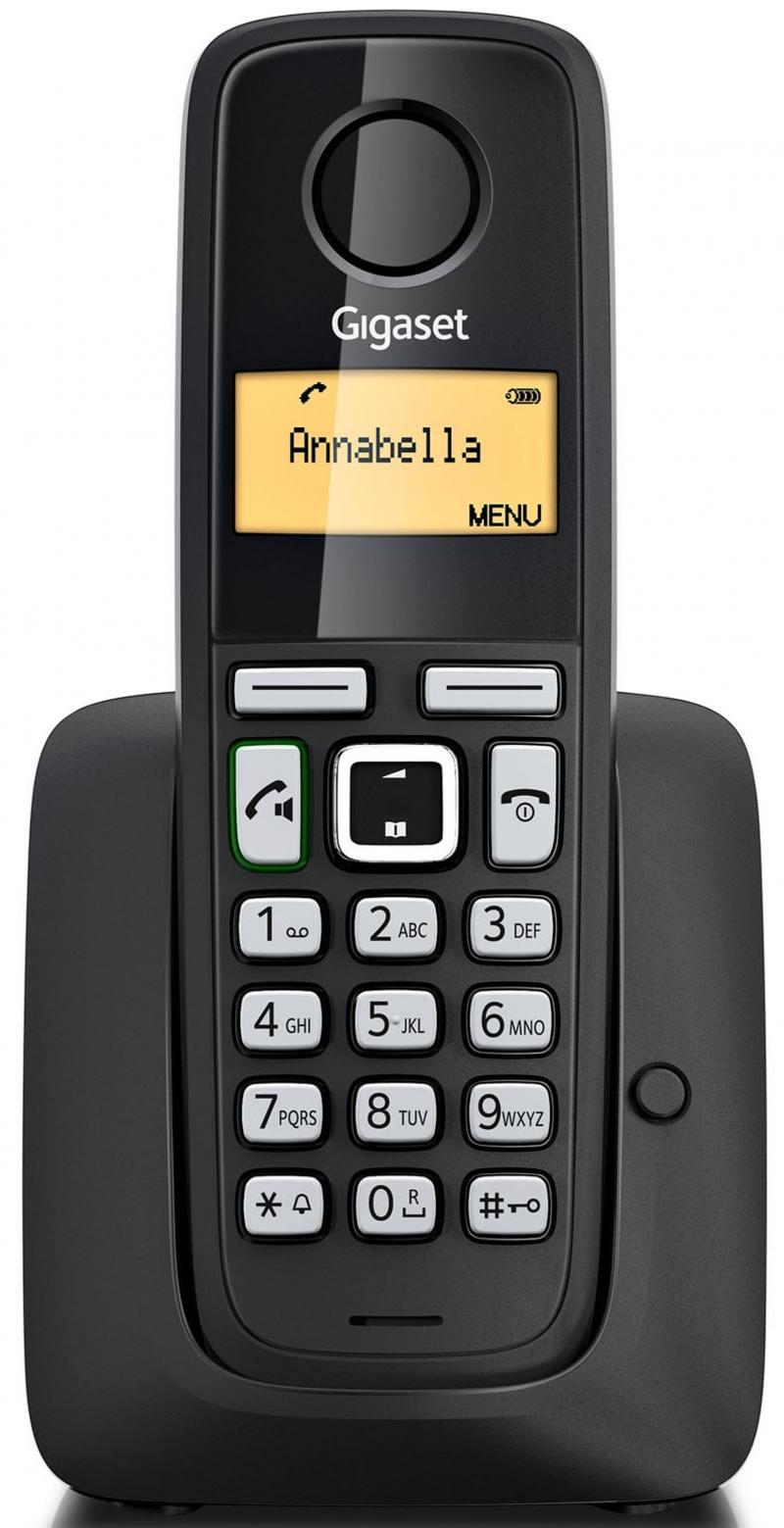 Радиотелефон DECT Gigaset A220A черный