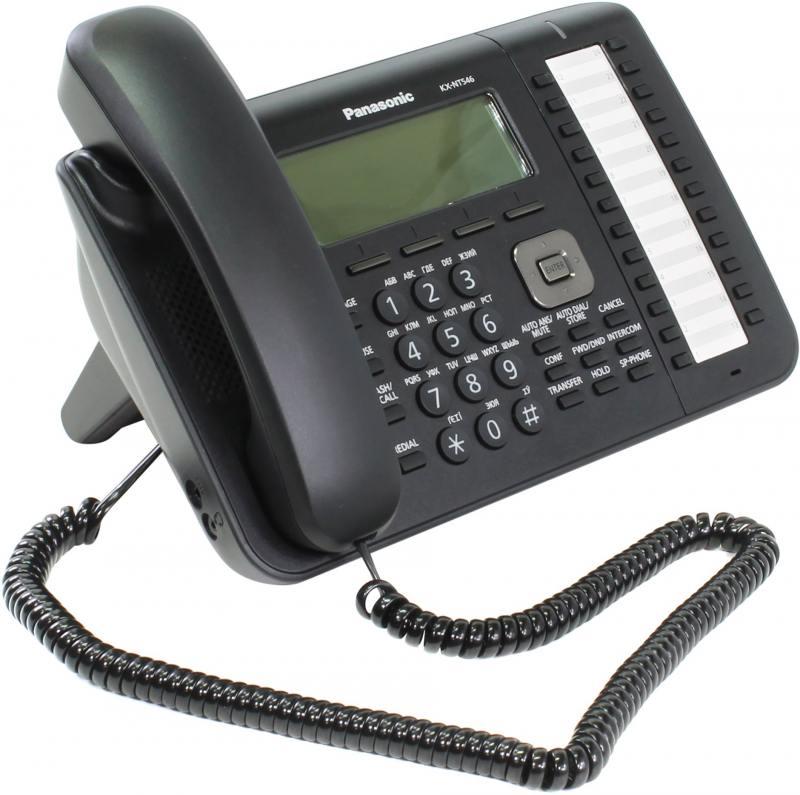 Телефон IP Panasonic KX-NT546RUB черный