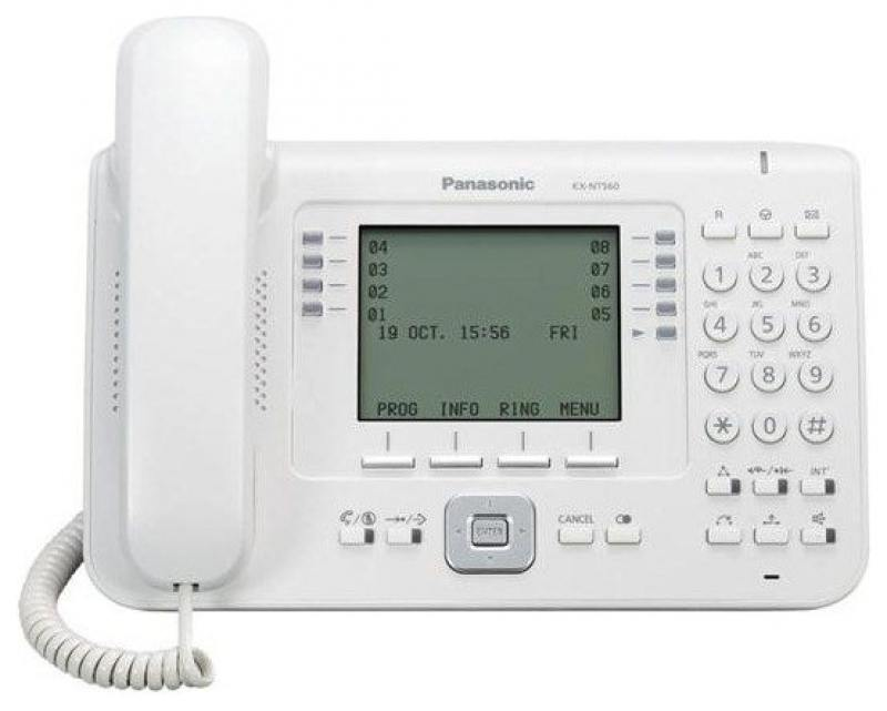 Телефон IP Panasonic KX-NT560RU белый телефон ip panasonic kx nt553ru белый