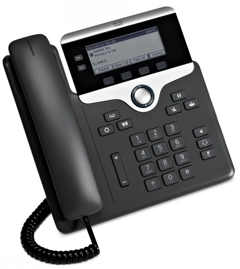 Телефон IP Cisco CP-7821-K9= 2 линии 2x10/100Mbps LCD SIP
