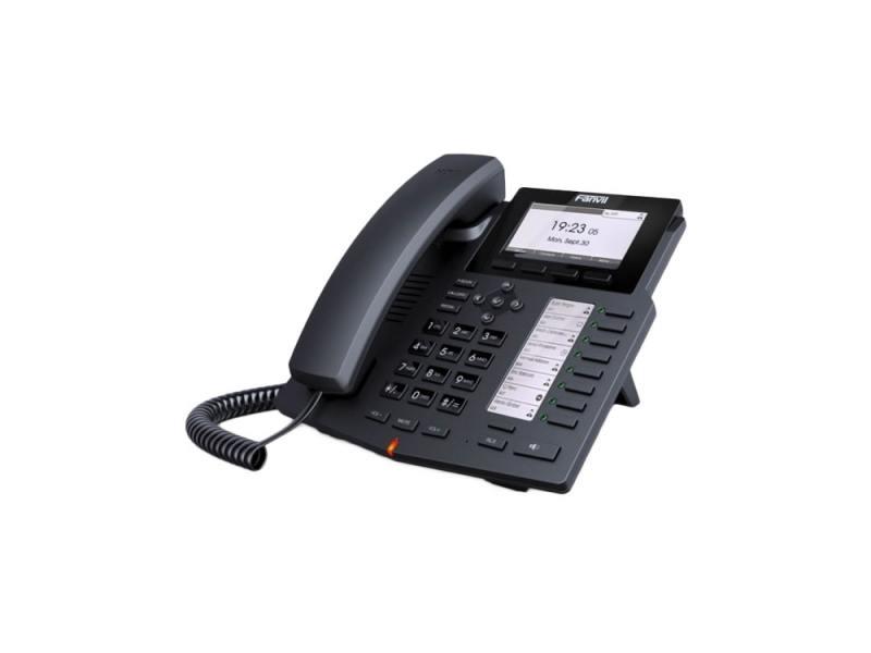 Телефон IP Fanvil X5 6 линий 2x10/100Mbps LCD SIP PoE черный