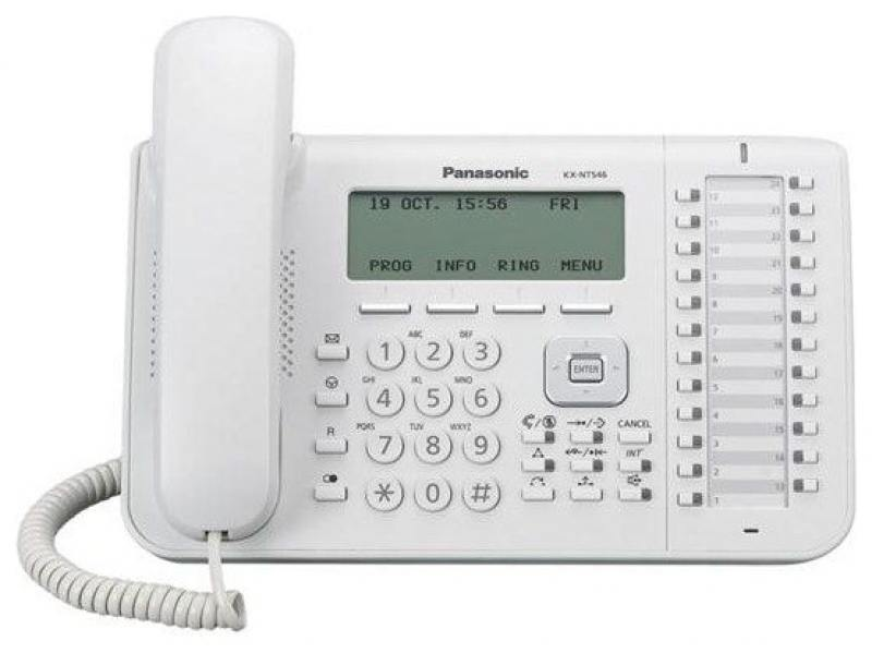 Телефон IP Panasonic KX-NT546RU белый телефон