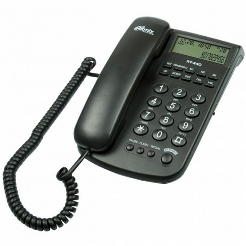 Телефон Ritmix RT-440 черный