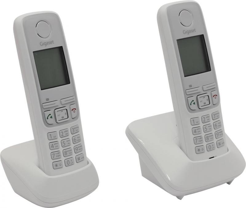 Радиотелефон DECT Gigaset A420 DUO белый