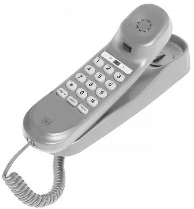 Телефон проводной Texet TX-236 серый проводной телефон texet тх 219 grey