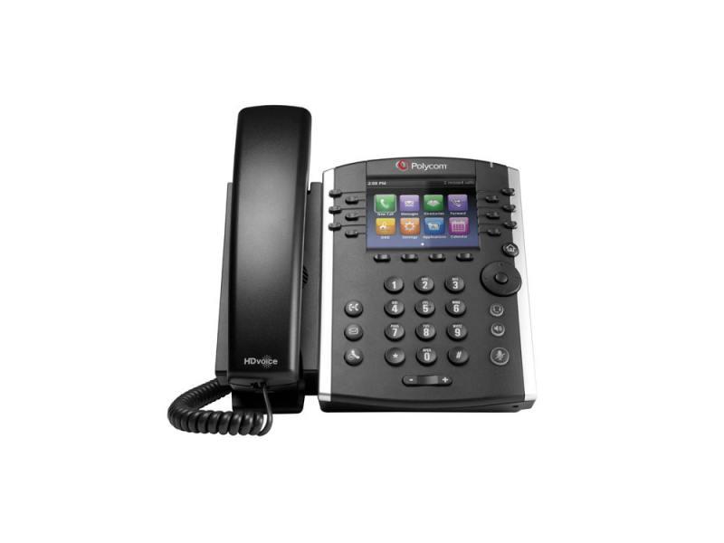 Телефон IP Polycom VVX 400 для конференций черный 2200-46157-114 ip телефон gigaset c530a ip