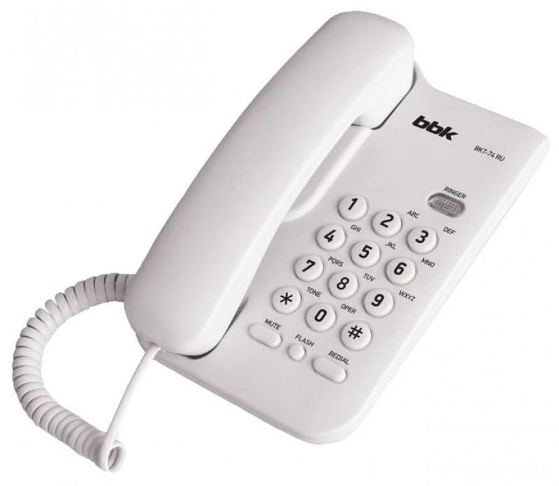 Телефон BBK BKT-74 RU белый
