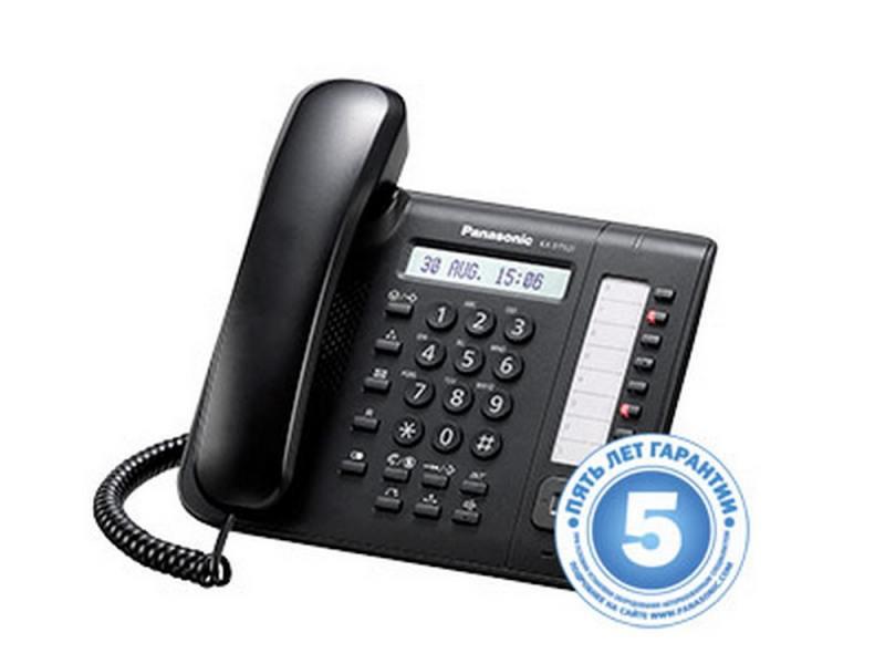 Телефон Panasonic KX-DT521RUB черный атс panasonic kx tem824ru аналоговая 6 внешних и 16 внутренних линий предельная ёмкость 8 внешних и 24 внутренних линий