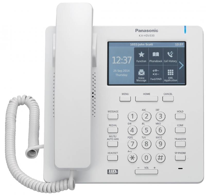 Телефон IP Panasonic KX-HDV330RU белый телефон ip panasonic kx nt553ru белый