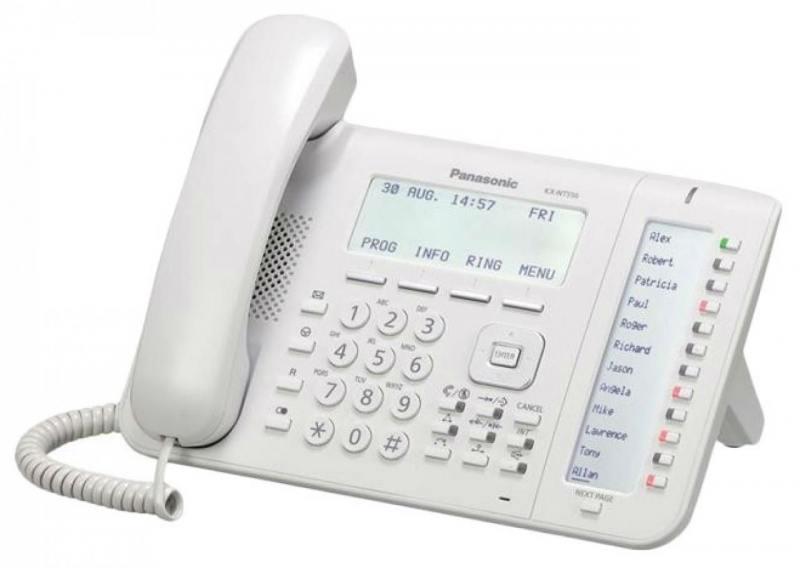 Телефон IP Panasonic KX-NT553RU белый телефон