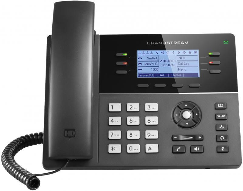 Телефон IP Grandstream GXP-1760 6 линий 3 SIP-аккаунта 2x10/100Mbps LCD PoE BLF