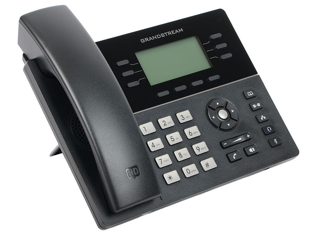Телефон IP Grandstream GXP-1760 6 линий 3 SIP-аккаунта 2x10/100Mbps LCD PoE BLF телефон ip grandstream gxp 1630 3 линии 3 sip аккаунта 2x10 100 mbps lcd poe blf