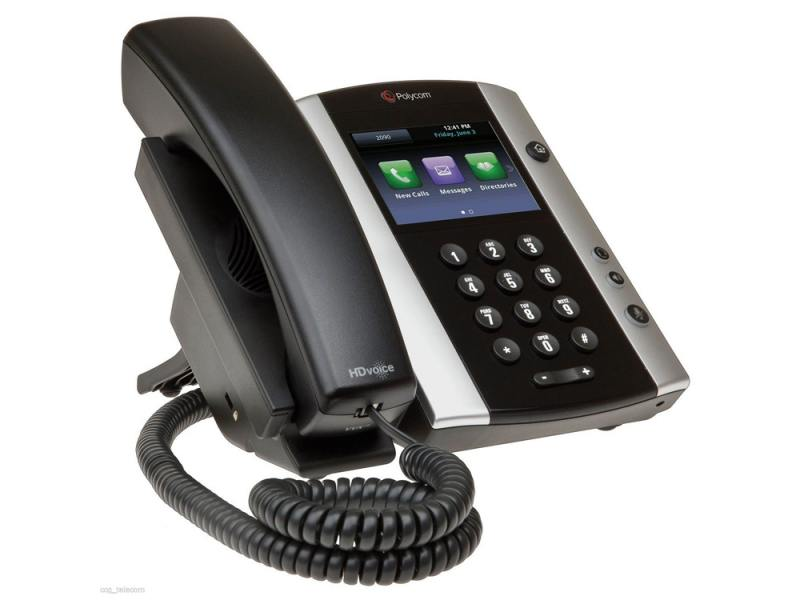 цена на Телефон IP Polycom VVX 500 для конференций черный 2200-44500-114