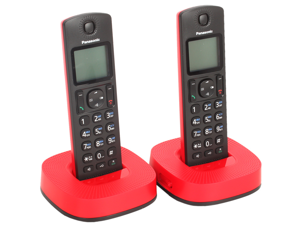 Телефон DECT Panasonic KX-TGC312RUR АОН, Caller ID 50, Эко-режим, Память 50, Black-List, + дополнительная трубка телефон ip dect panasonic kx tgp600rub sip цифр ip телефон voip ethernet upto 8 hset line память 500 звук hd