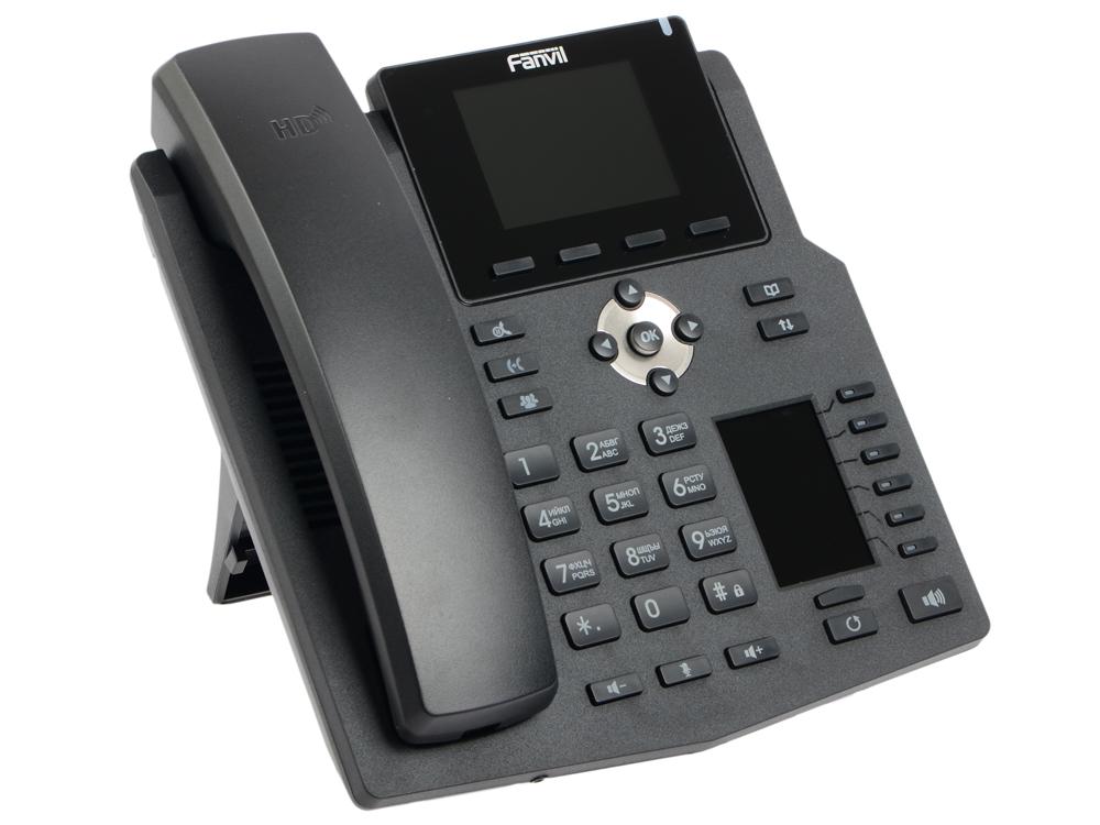 Телефон IP Fanvil X4 4 линии 2x10/100Mbps LCD PoE телефон ip fanvil x3g 2 линии 2x10 100 1000mbps цветной lcd