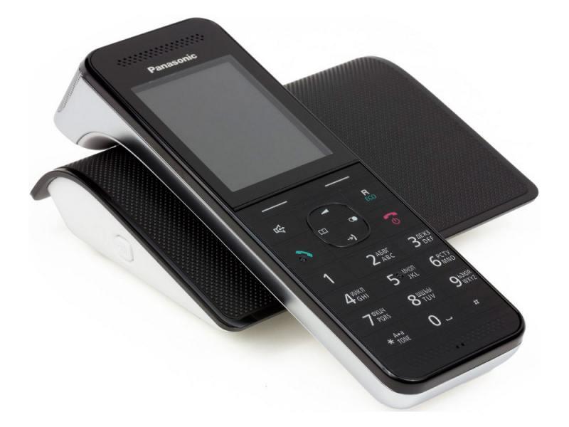 Радиотелефон DECT Panasonic KX-PRW120RUW черный-белый