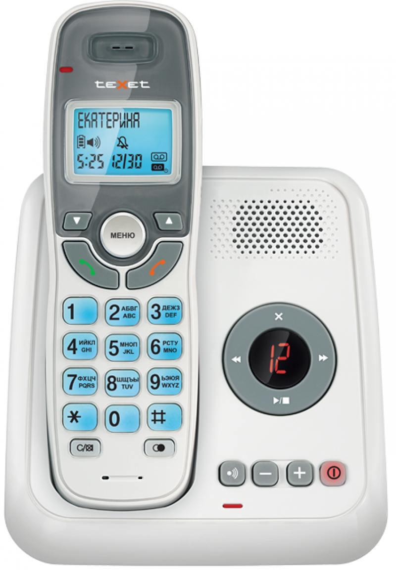 Фото Радиотелефон DECT Texet TX-D6955А Dect белый радиотелефон dect texet tx d6905а dect белый