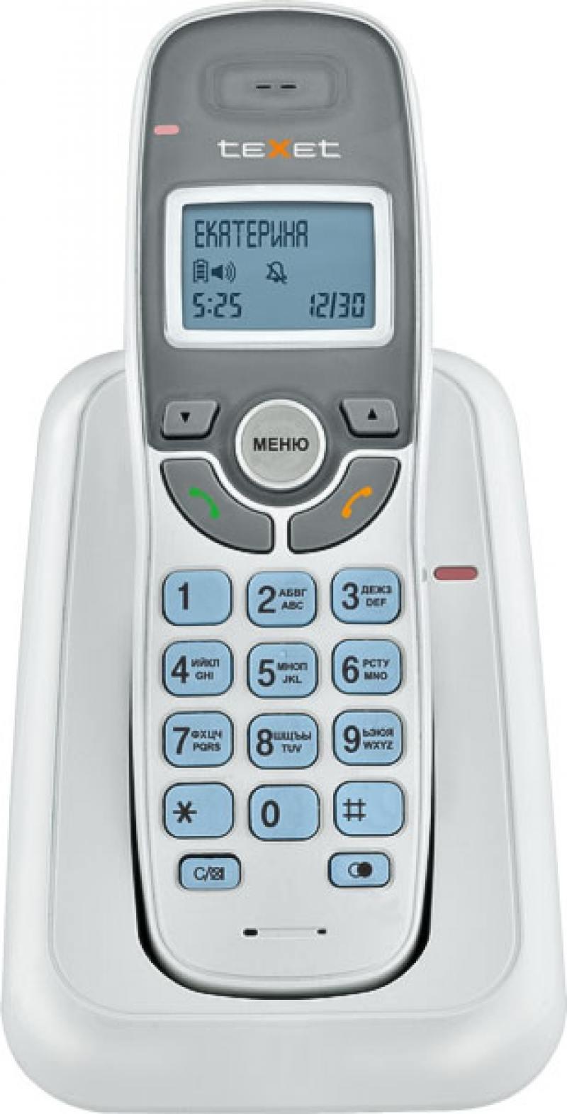 Фото Радиотелефон DECT Texet TX-D6905А Dect белый радиотелефон dect texet tx d6905а dect белый