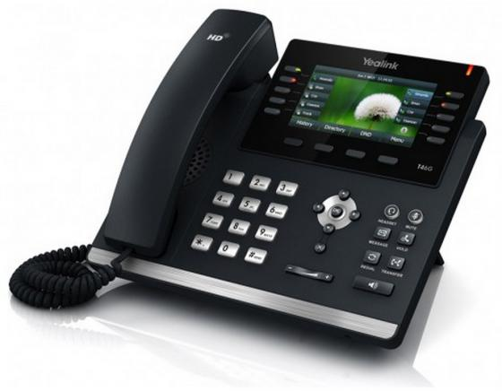 "Телефон IP Yealink SIP-T46S 16 SIP-аккаунтов 2x10/100/1000Mbps 1xUSB2.0 4.3"" LCD PoE BLF BLA"