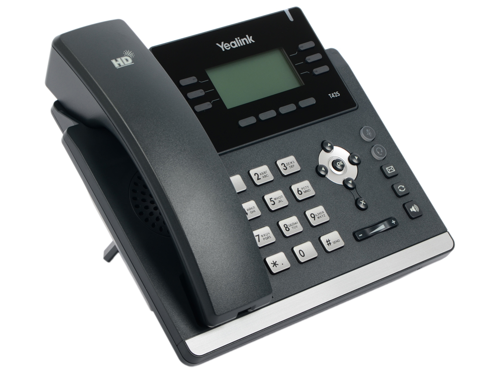Телефон IP Yealink SIP-T42S 12 SIP-аккаунтов 2x10/100/1000Mbps 2.7 LCD PoE BLF BLA mr2920 sip 7
