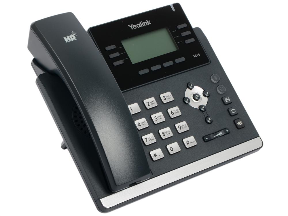Телефон IP Yealink SIP-T41S 6 SIP-аккаунтов 2x10/100Mbps 2.7 LCD PoE BLF BLA телефон voip yealink sip t40p sip телефон 3 линии blf poe без бп
