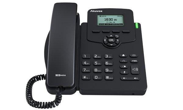 "Телефон IP Akuvox SP-R50P 1 SIP-аккаунт 2x10/100Mbps 2.3"" LCD PoE"