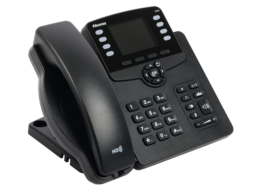 Телефон IP Akuvox SP-R63G 3 SIP-аккаунта 2x10/100/1000Mbps 2.8 LCD цветной PoE телефон ip akuvox sp r55p 3 sip аккаунта 2x10 100mbps 2 3 lcd poe