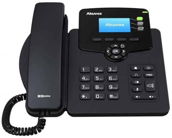 Телефон IP Akuvox SP-R55G 3 SIP-аккаунта 2x10/100/1000Mbps 2.3