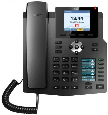 Телефон IP Fanvil X4G 4 линии 2x10/100/1000Mbps LCD PoE