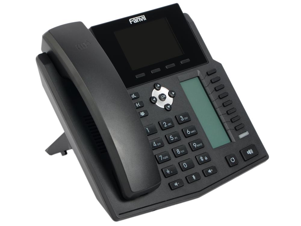 Телефон IP Fanvil X5S 6 линий 2x10/100/1000Mbps LCD SIP PoE черный ip телефон fanvil x6