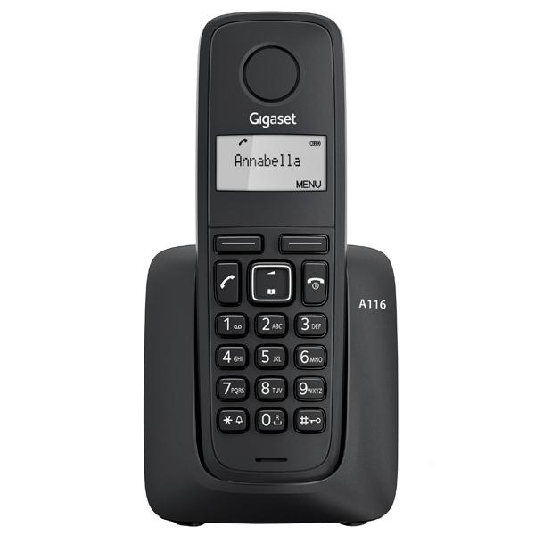 Телефон Gigaset A116 Black (DECT) телефон беспроводной dect gigaset e630a black