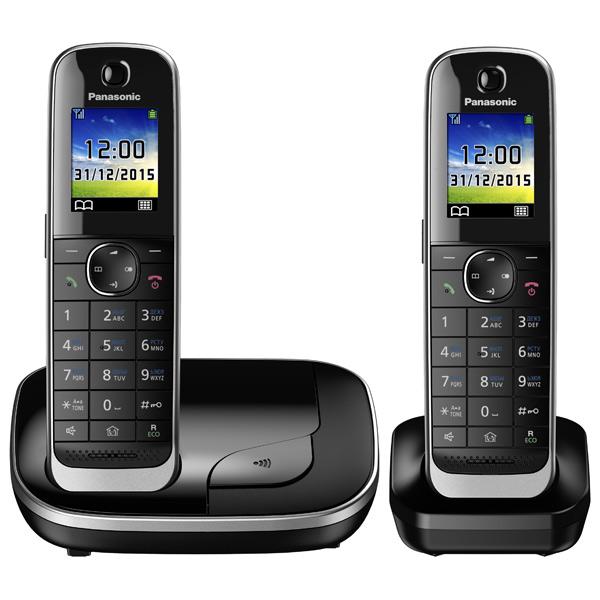 купить Телефон DECT Panasonic KX-TGJ312RUB АОН, Color TFT, Caller ID 50, Эко-режим, Память 250, Black-List, дополнительная трубка недорого