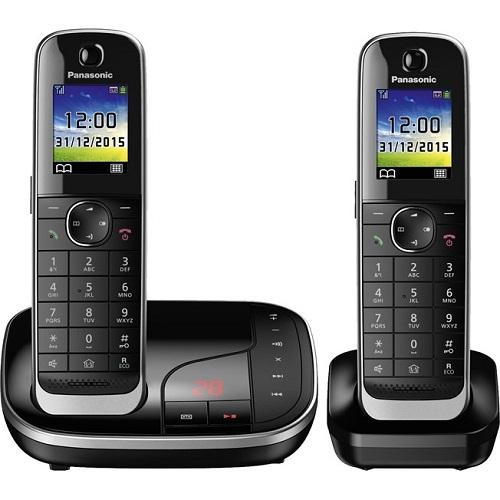 Телефон DECT Panasonic KX-TGJ322RUB АОН, Color TFT, Caller ID 50, Эко-режим, Память 250, Black-List, Автоответчик, дополнительная трубка телефон ip dect panasonic kx tgp600rub sip цифр ip телефон voip ethernet upto 8 hset line память 500 звук hd