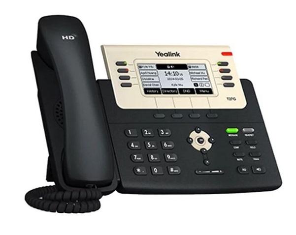Телефон VoIP Yealink SIP-T27G SIP-телефон, 6 линий, Opus, BLF, PoE, USB, GigE voip телефон gigaset openstage 40 sip black