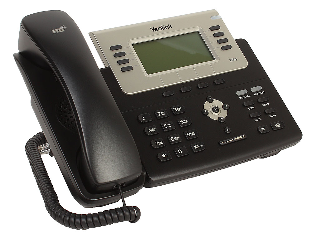 Телефон VoIP Yealink SIP-T27G SIP-телефон, 6 линий, Opus, BLF, PoE, USB, GigE проводной и dect телефон foreign products vtech ds6671 3