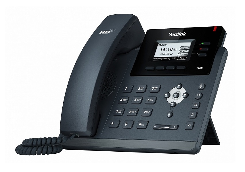 Телефон VoIP Yealink SIP-T40G SIP-телефон, 3 линии, Opus, BLF, PoE, GigE, БЕЗ БП