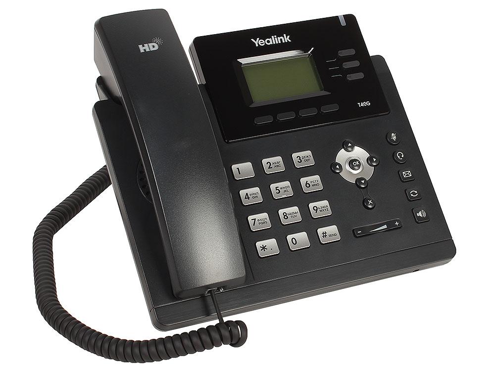 Телефон VoIP Yealink SIP-T40G SIP-телефон, 3 линии, Opus, BLF, PoE, GigE, БЕЗ БП телефон voip yealink sip t19p e2 sip телефон 1 линия poe