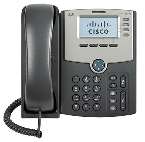 Телефон IP Cisco SPA514G-XU 4 линии, IP телефон, дисплей, PoE, Gigabit LAN телефон