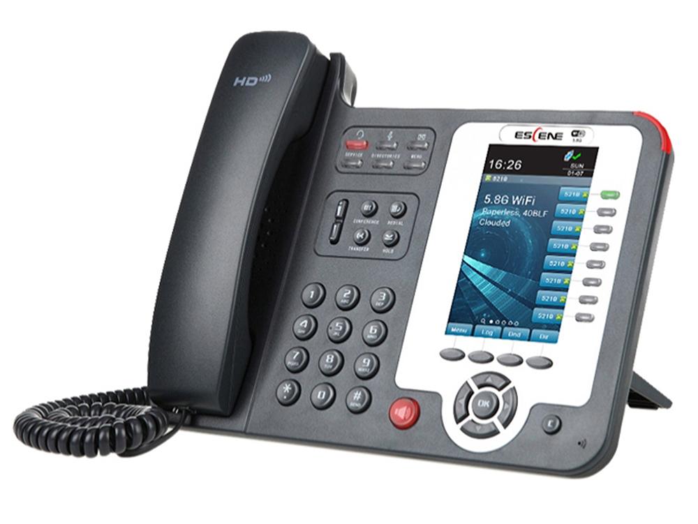 SIP-телефон Escene ES620-PEGV4 8 SIP аккаунтов, 480x272 LCD-цветной дисплей, 40 вируальных программируемых клавиш, BLF, XML, регулируемая подставка, 2 sitemap 8 xml