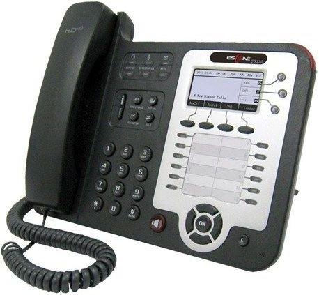 SIP-телефон Escene ES330-PEGV4 3 SIP аккаунта, 132x64 LCD-дисплей, 8 программируемых клавиш, 12 клавиш быстрого набора BLF, XML/LDAP, регулируемая под mr2920 sip 7