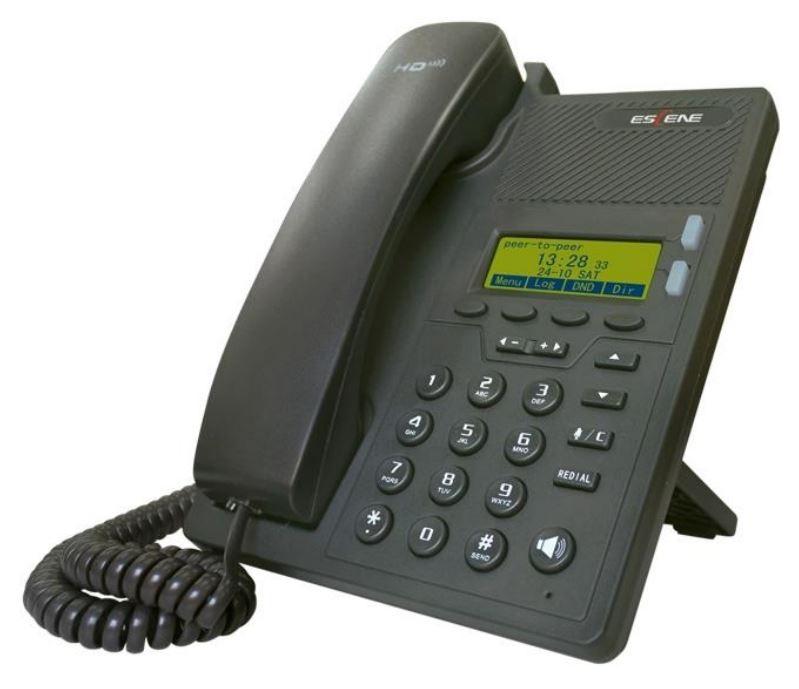 IP-телефон Escene ES205-N с б/п 2 SIP аккаунта, 128x64 LCD-дисплей, 4 программируемы клавиши, XML/LDAP, регулируемая подставка, 2xRJ45, EP+ приложени