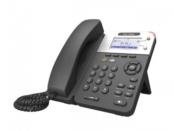 SIP-телефон Escene ES280-V4 с б/п 2 SIP аккаунта, 132x64 LCD-дисплей, XML/LDAP, регулируемая подставка, крепление на стену, разъемы для гарнитуры (RJ